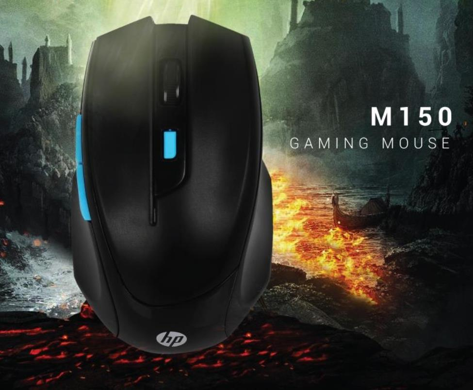 HP USB WIRED OPTICAL 1600 DPI 6 BUTTON GAMING MOUSE M150