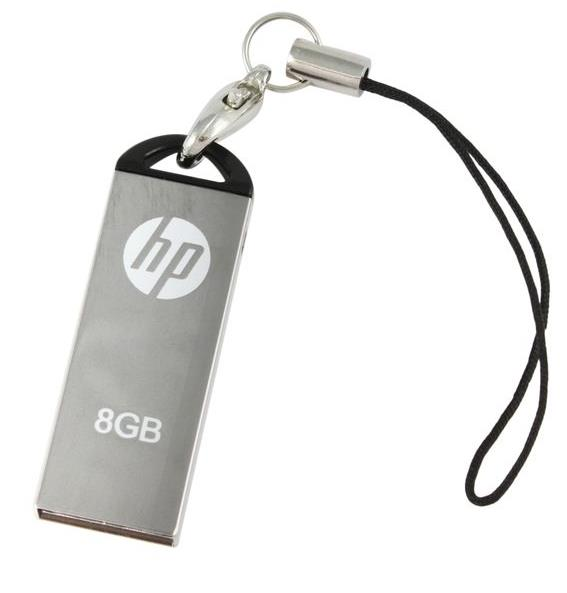 HP USB2.0 STAINLESS STEEL THUMB DRIVE V220W 8GB