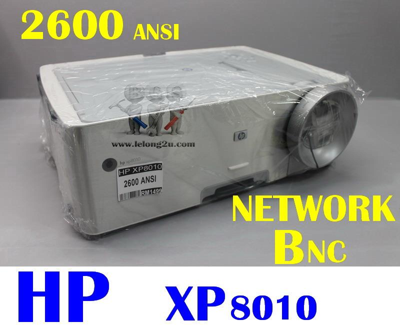 HP XP8010 DLP PROJECTOR ,NETWORK ,BNC (2600 ANSI)
