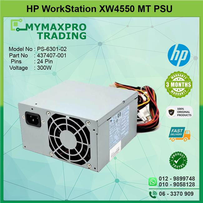 USED HP XW4550 300W 300 Watt PSU Power Supply PS-6301-02 436957 437407