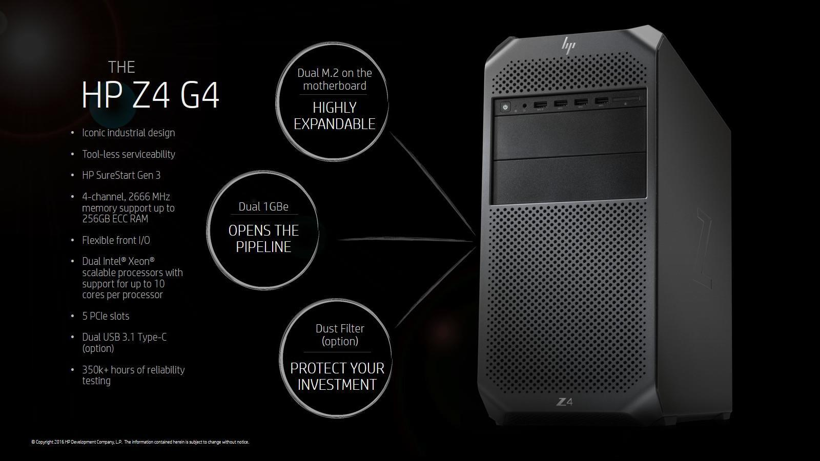 HP Z4 G4 Workstation Desktop (Xeon W-2123.16GB.1TB) (3PU57PA)
