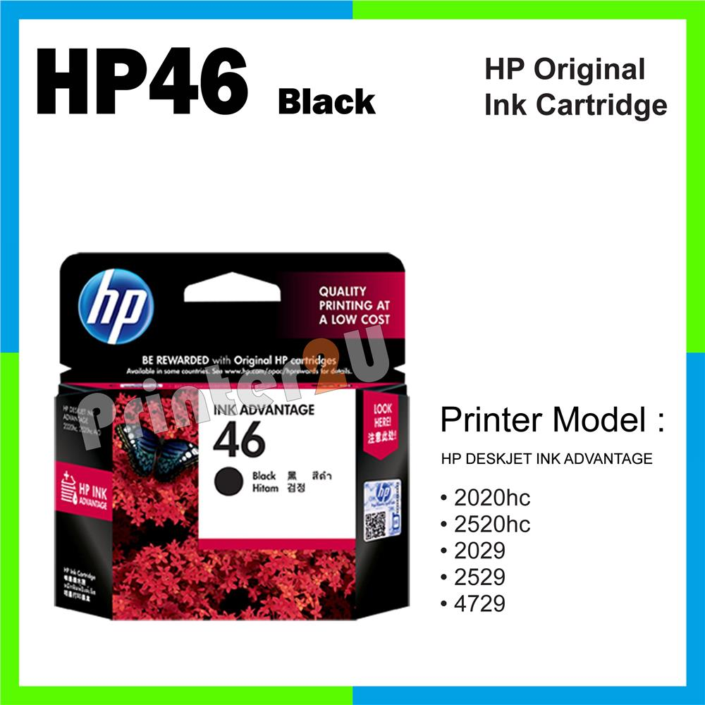 HP46 Original Inkjet Ink Cartridge HP 46 Black 2529 4729. ‹ ›
