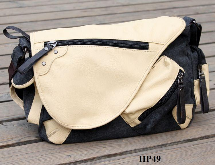 HP49 Canvas Bag Retro  Korean Bag  Messenger Bag School Bag. ‹ › d10301643c4fd