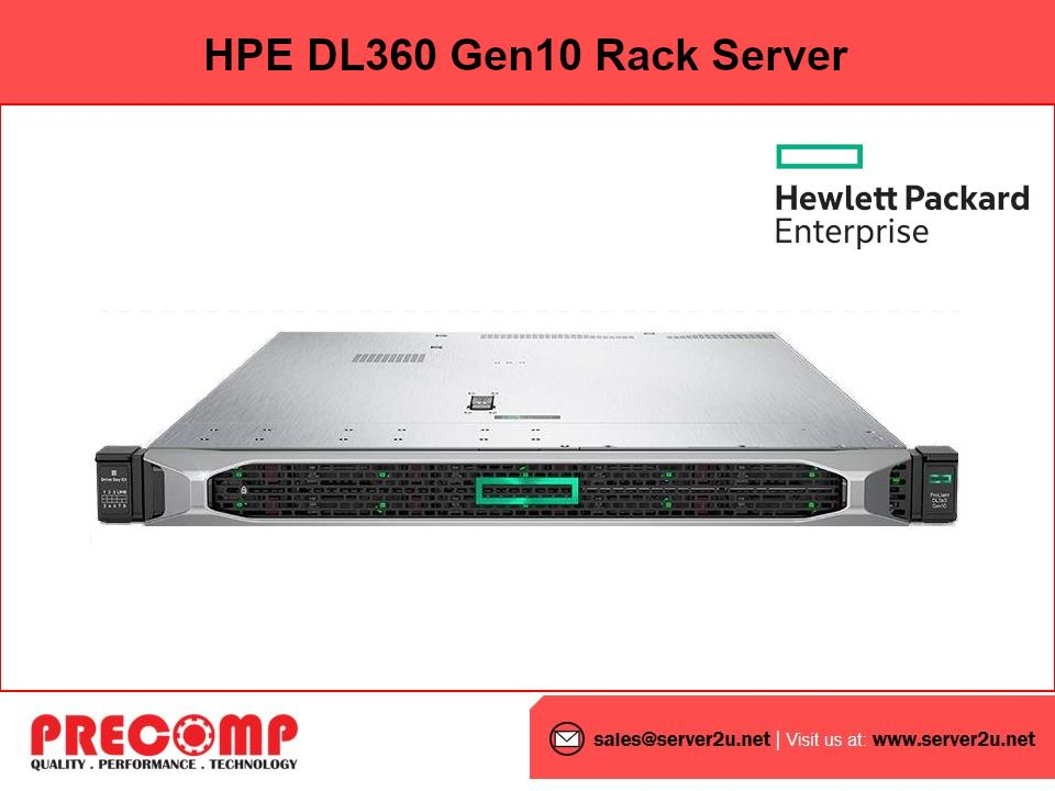 HPE DL360 Gen10 Silver 4214 Server (S4214.16GB.3x600GB)