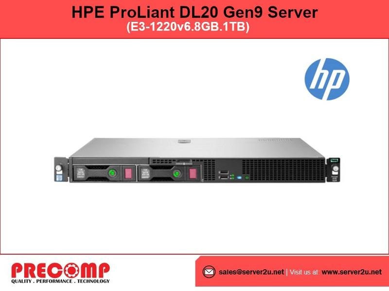HPE ProLiant DL20 Gen9 Server (E3-1220v6.8GB.1TB) (871429-B21)