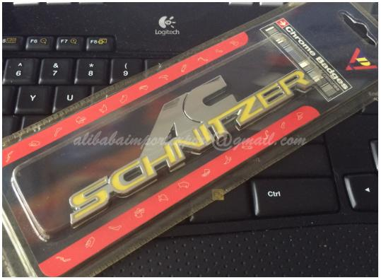 HQ AC SCHNITZER Yellow 3D Chrome Car Badge Sticker Decal Emblem Trunk