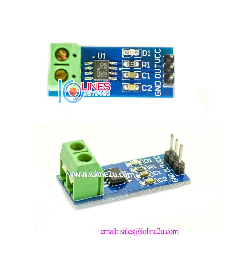 HQ Ori IC ACS712 20A 5V Current Sensor Module Arduino DC Ammeter Hall effect