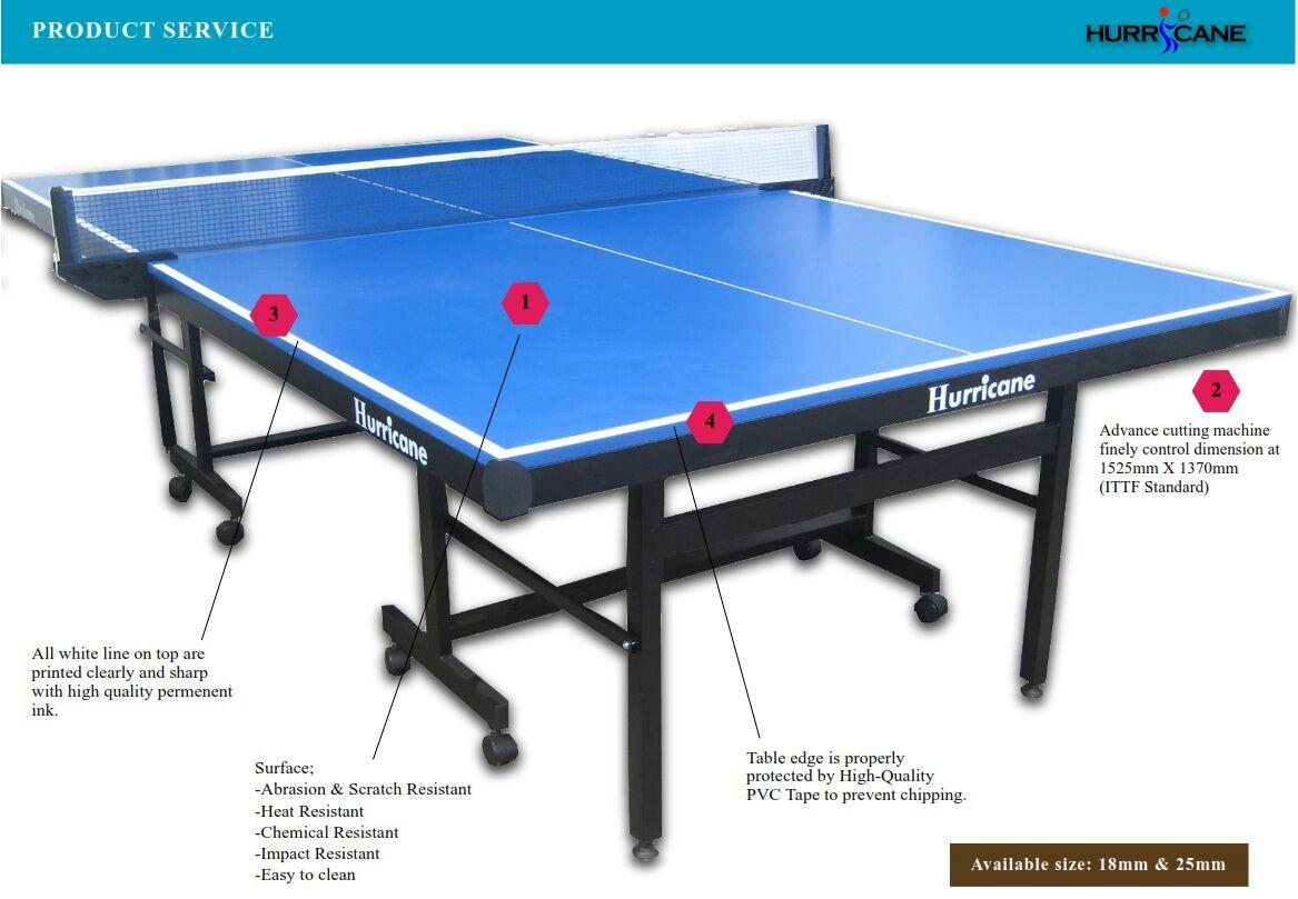 HRRICANE Table Tennis Table. U2039 U203a