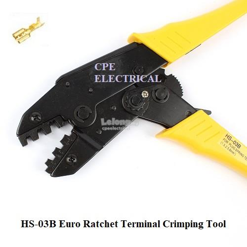 HS-03B Euro Ratchet Receptacle Terminal Crimping Tool 1.5 - 6mm²