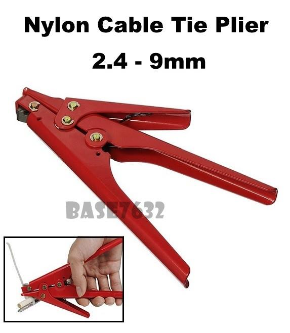HS-519 2.4-9mm  Nylon Cable Tie Tensioning Cutting Plier Tool