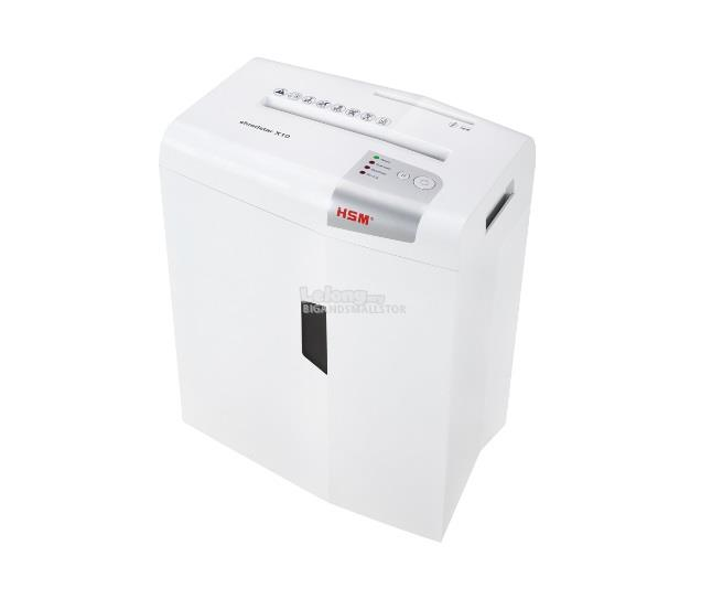 HSM Paper Shredder ShredStar X10 Cross Cut 4.5x30mm 10Sht 6.2Kg 20L ZZ