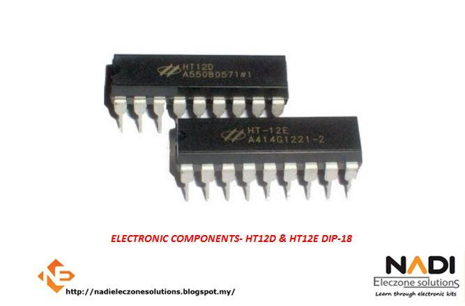 HT-12D and HT-12E IC Remote Decoder Encoder HT12D and HT12E