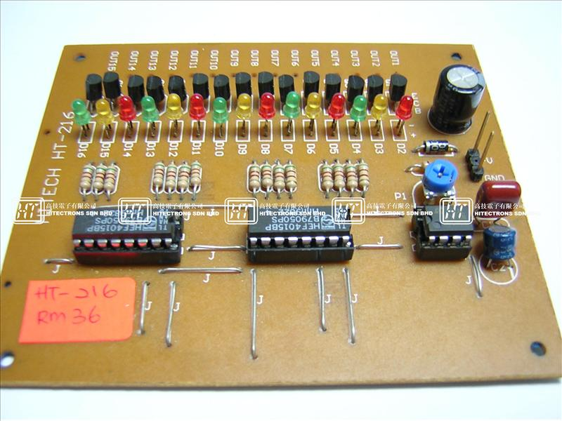 Ht216 15 Led Running Light Electronics Kit