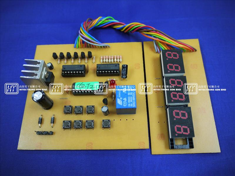 HT562T Digital Clock With 4 Timers (Relay) / Electronics Kit