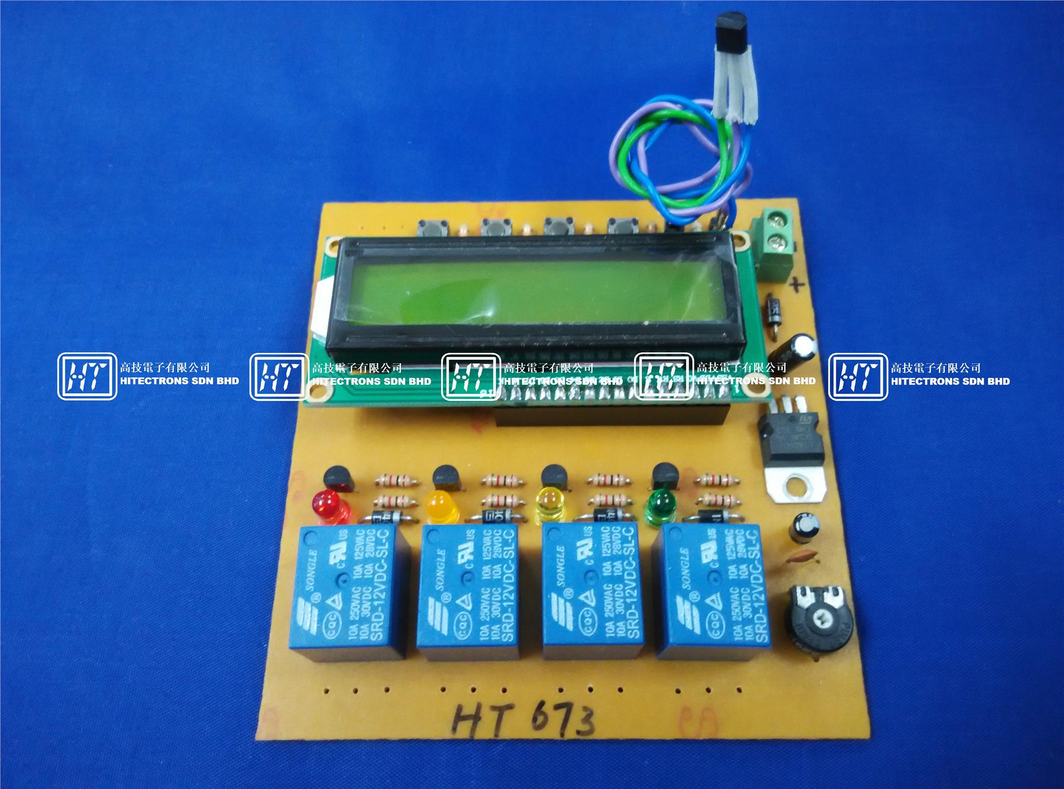 Digital Thermometer With Pic16f84 Circuit