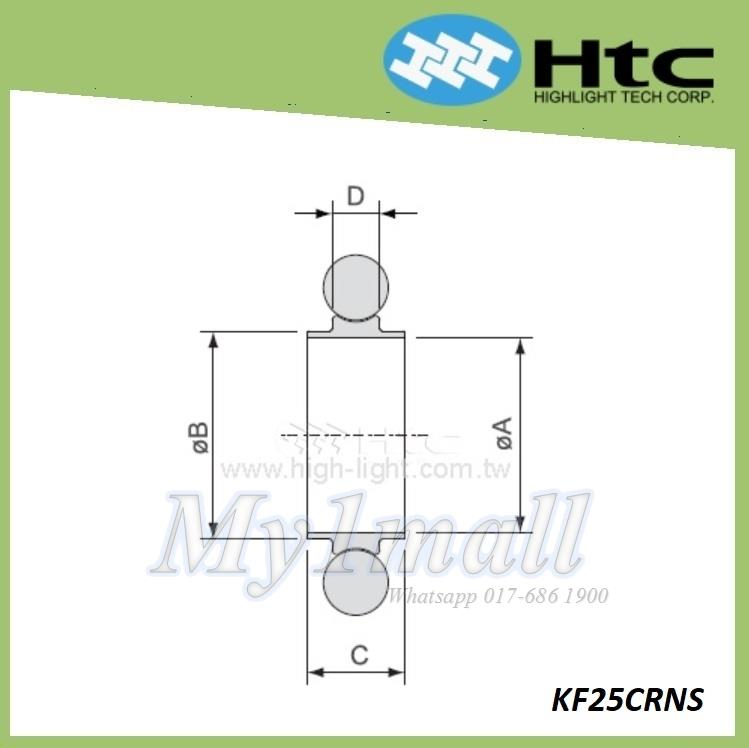 HTC CENTERING RING WITH O-RING DN25 - KF25CRNS