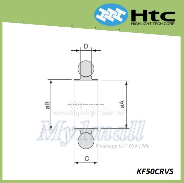 HTC CENTERING RING WITH RING DN50 - KF50CRVS