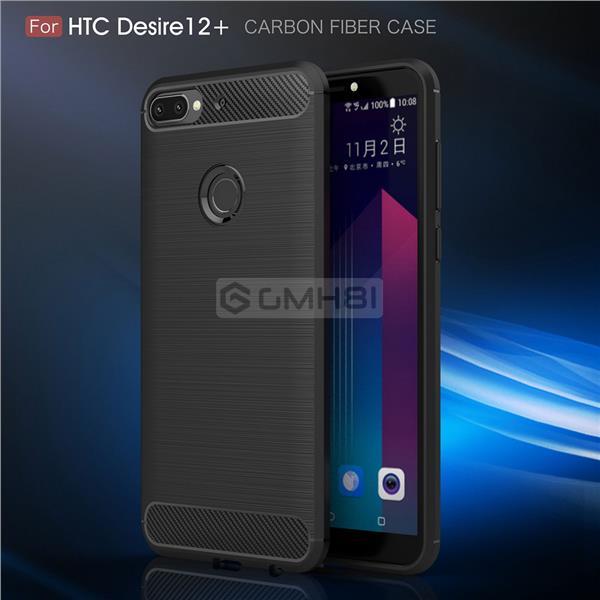 buy online 9de04 73ce0 HTC Desire 12 12+ Plus Brushed Tough Slim Armor TPU Bumper Cover Case