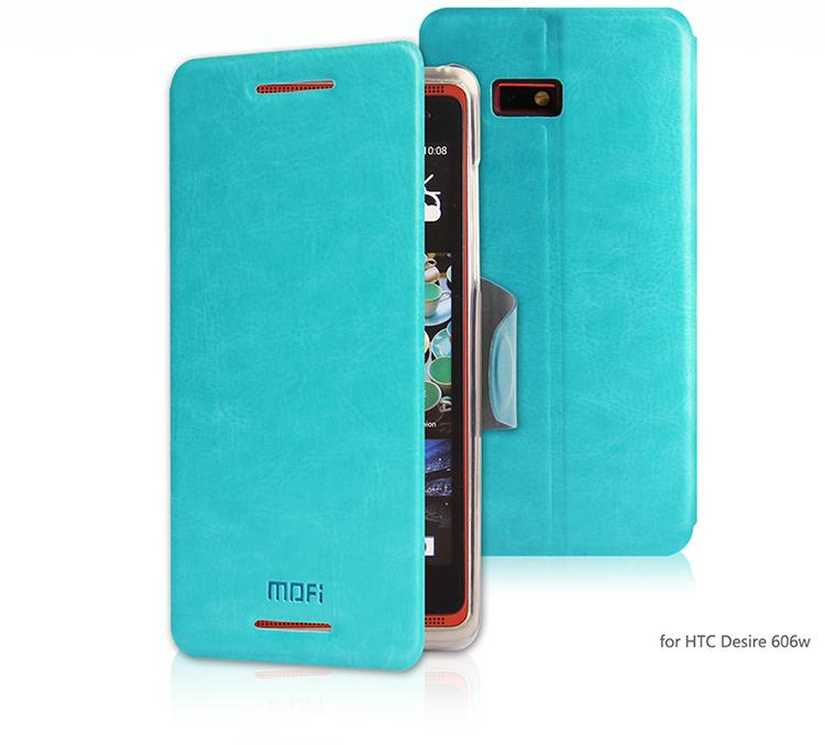 HTC Desire 600 606W MOFI PU Leather Flip Case Cover Free Gifts