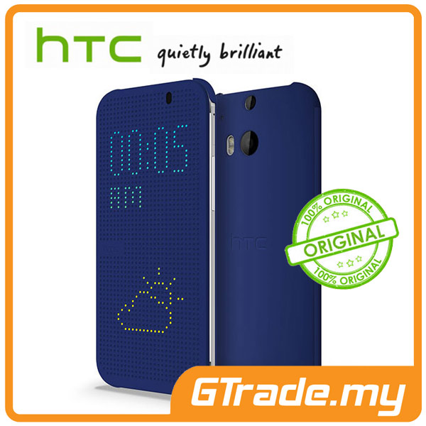 HTC Dot View Cover Case HC M1001 | One M8 - Blue