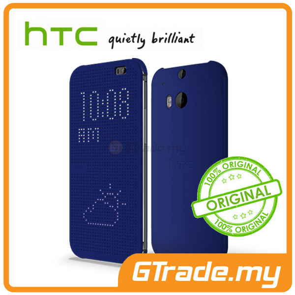 HTC Dot View Cover Case HC M120 | Butterfly 2  - Blue
