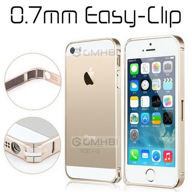 HTC One 2 M8 Apple IPhone SE 5S 5 4S 4 Aluminum Easy Clip Bumper Case