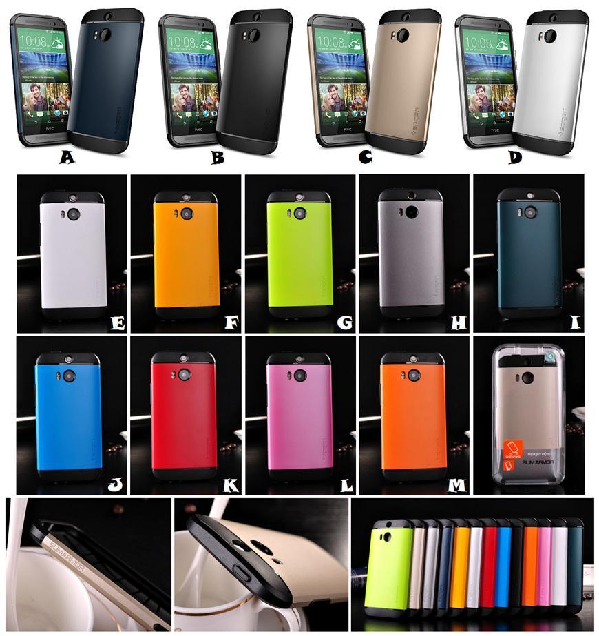 online retailer 9bcf5 4ce86 HTC ONE 2 M8 SPIGEN SGP SLIM ARMOR Case Cover *FREE SP*