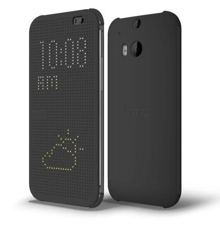 HTC One M8 Dot View Flip Case - Original HTC - Black - rmtlee
