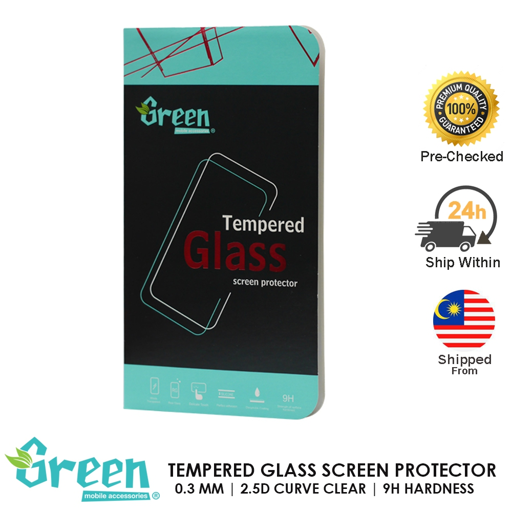 HTC ONE M8 GREEN TEMPERED GLASS FILM 0.3MM 2.5D CURVE