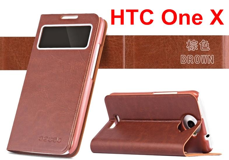 HTC ONE X g23 s720e S-View Flip PU Leather Case Cover Casing
