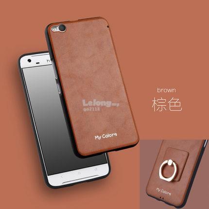 best website b4500 c47de HTC one X9 Leather Back case casing cover + ring holder