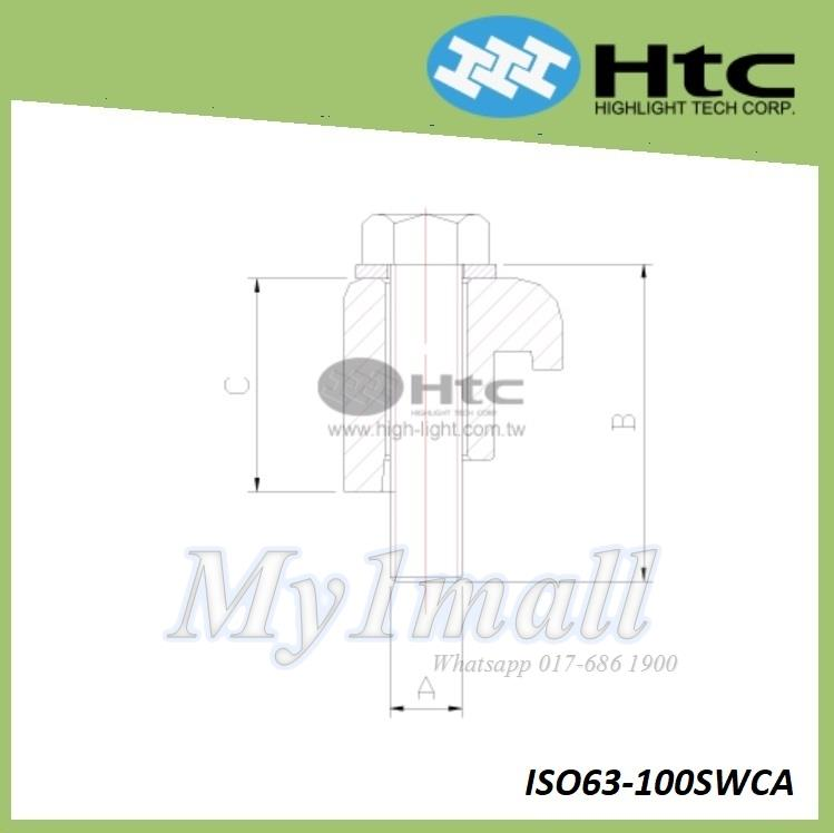 HTC SINGLE CLAW CLAMP - ISO63-100SWCA
