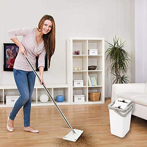 HTKMOS Mop Bucket with Wringer for Wood Floor Cleaning Supplies Set and Cleani