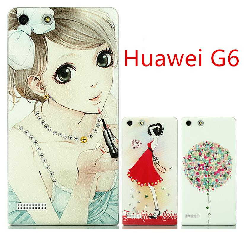 Huawei Ascend G6 Swarovski Diamond 3D Relief Back Case Cover Free SP