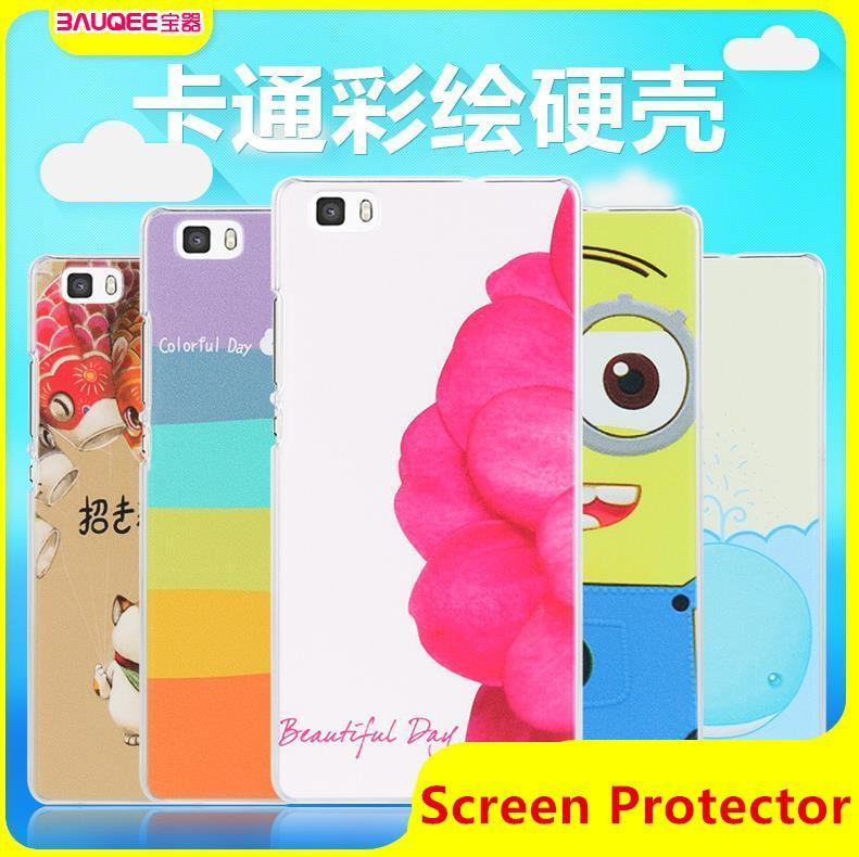 Huawei Ascend P8 Lite 5' Cartoon Hard Back Case Cover +Free SP
