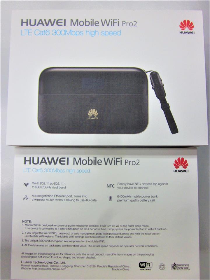 Huawei E5885 LTE 4G 3G MiFi Modem Router 300Mbps LAN 6400mAh Powerbank