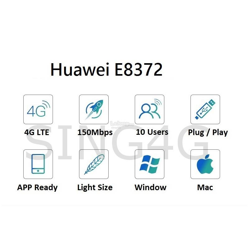 Huawei e8372 e8372h608 4G Wingle USB Modem / Hotspot @ 760s zte mf910