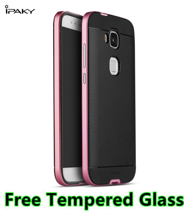 huge selection of e128a e3a19 Huawei G8 Neo Hybrid Back Case Cover Casing + Free Tempered Glass