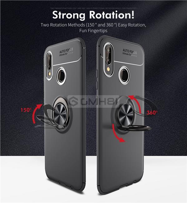 the latest 2e9fc 9b4b9 Huawei Honor 10 Lite INVISIBLE Ring Buckle Armor Bumper TPU Cover Case