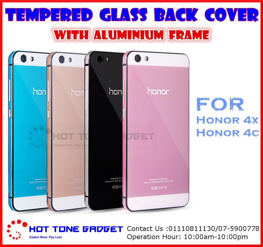 new style fca91 c447a Huawei Honor 4X 4C 5X 7 Tempered Glass Back Cover Case