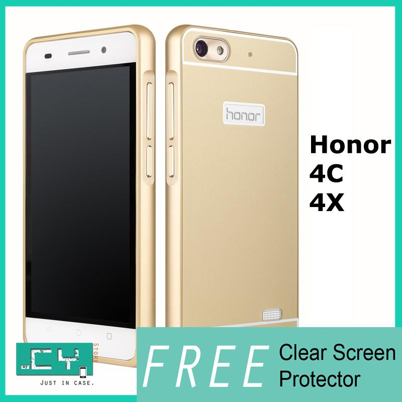 HUAWEI Honor 4X 4C Aluminium Metal Bumper Slim Back Case Cover