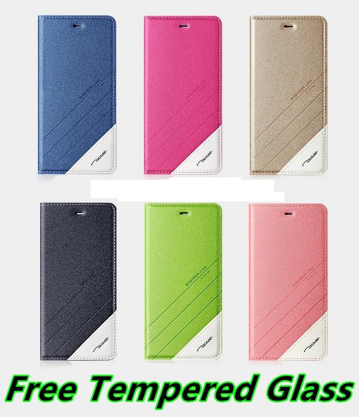 Huawei Honor 5C Flip Case Cover Casing + Free Tempered Glass