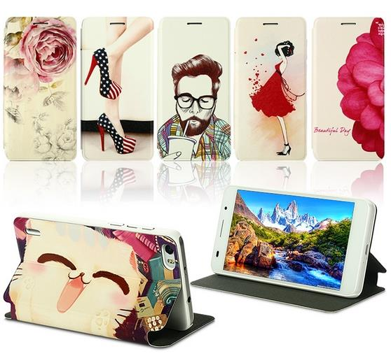 Huawei Honor 6 Cartoon Design Flip Stand Case Cover + Free SP
