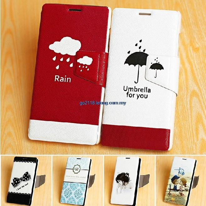 Huawei Honor 6 Couple Korea Flip Cover Casing Case Free Screen protect