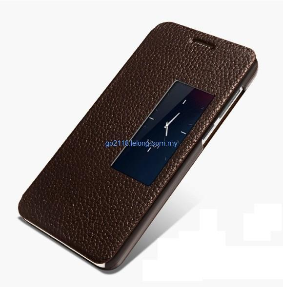 huge discount d86a8 0d48b Huawei Honor 6 Flip Cover Casing Case Genuine Cowhide Leather 2