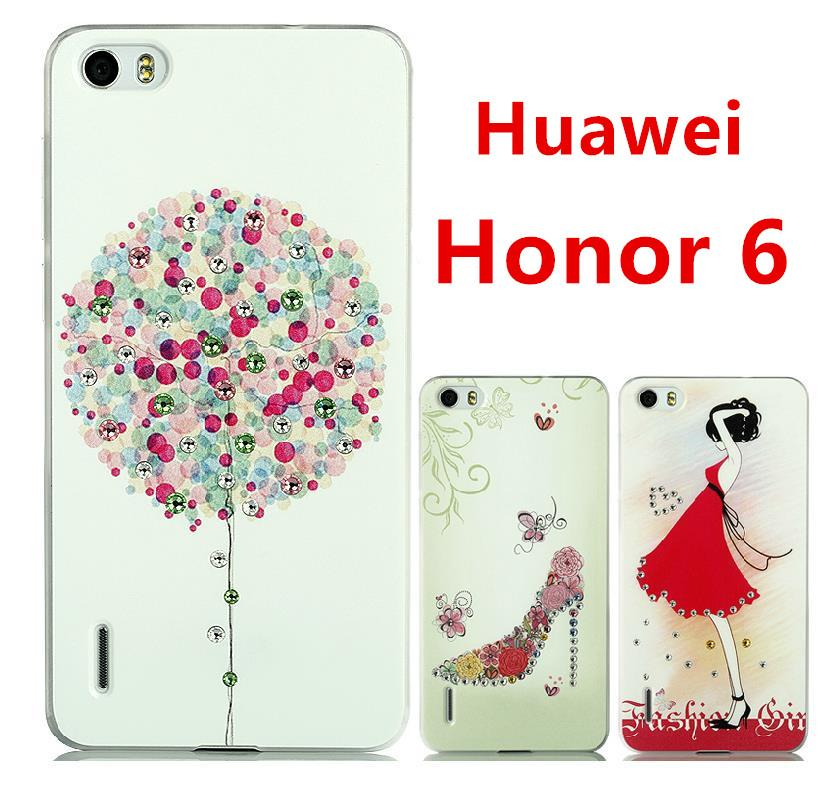 Huawei Honor 6 Swarovski Diamond 3D Relief Back Case Cover Free SP