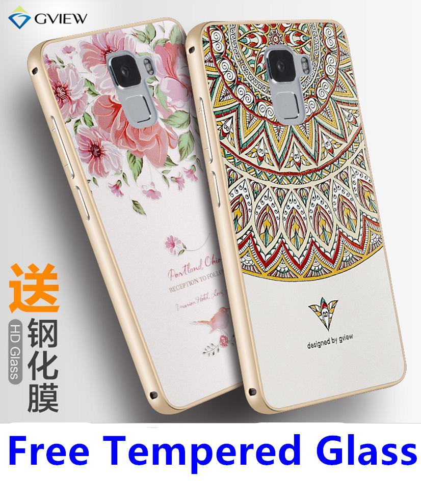 reputable site bd090 dfca2 Huawei Honor 7 3D Relief Metal Bumper Case Casing Cover+Tempered Glass