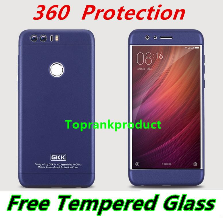 detailed look 23085 17efc Huawei Honor 8 360 Protection Armor Case Cover Casing + Glass SP