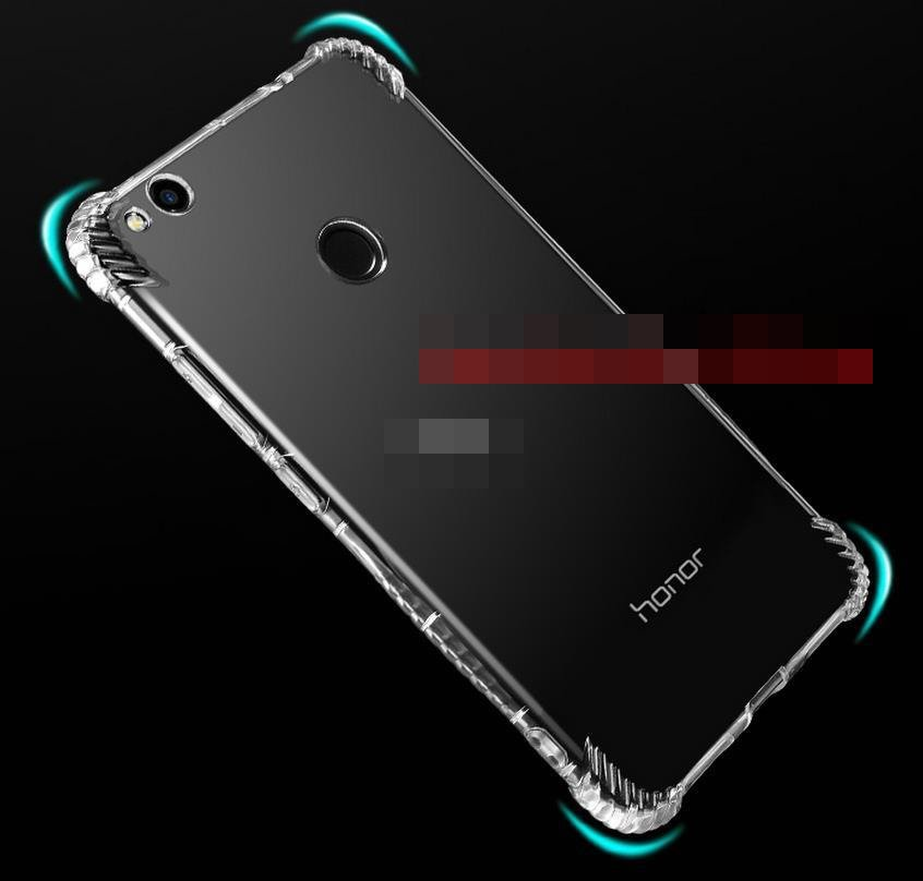 Huawei Honor 8 Nova Lite Transparent Back Armor Case Cover Casing