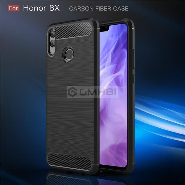 Huawei Honor 8X BRUSHED Rugged Tough Slim Armor TPU Bumper Cover Case